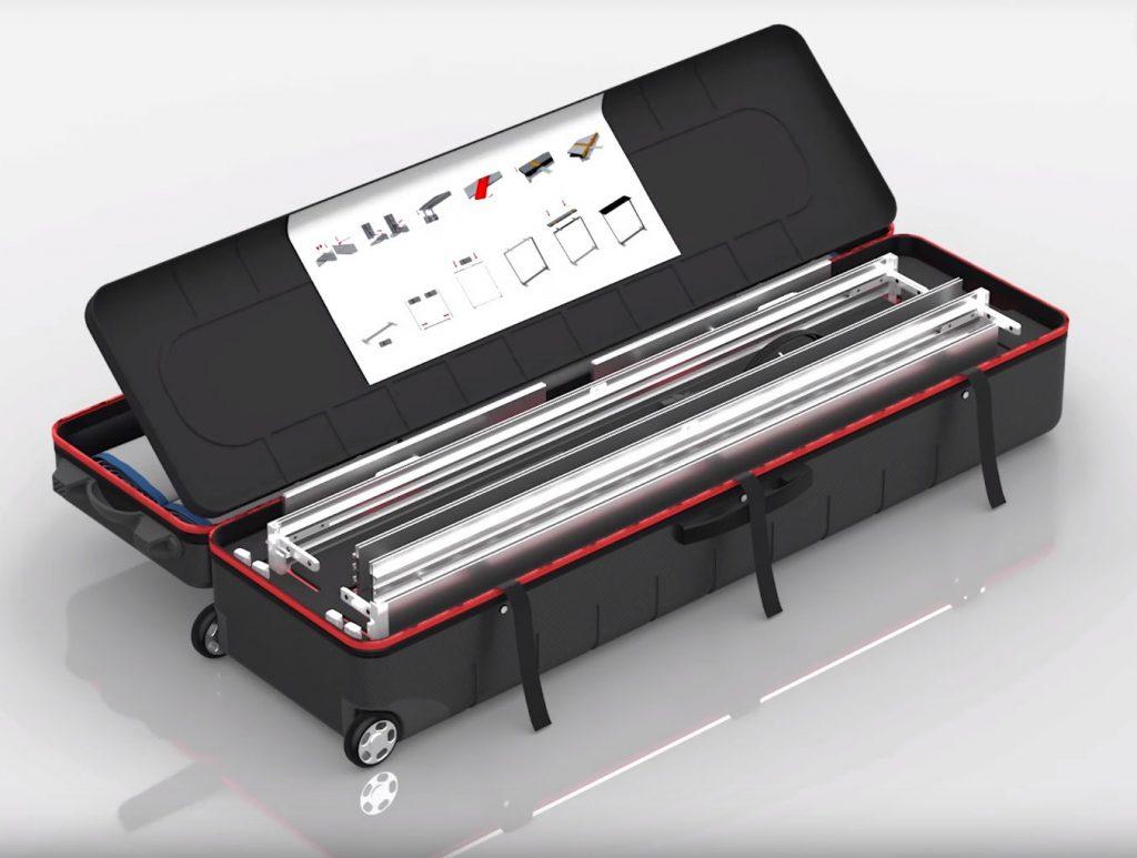 Transportkoffer für teilbare LED-Leuchtwände