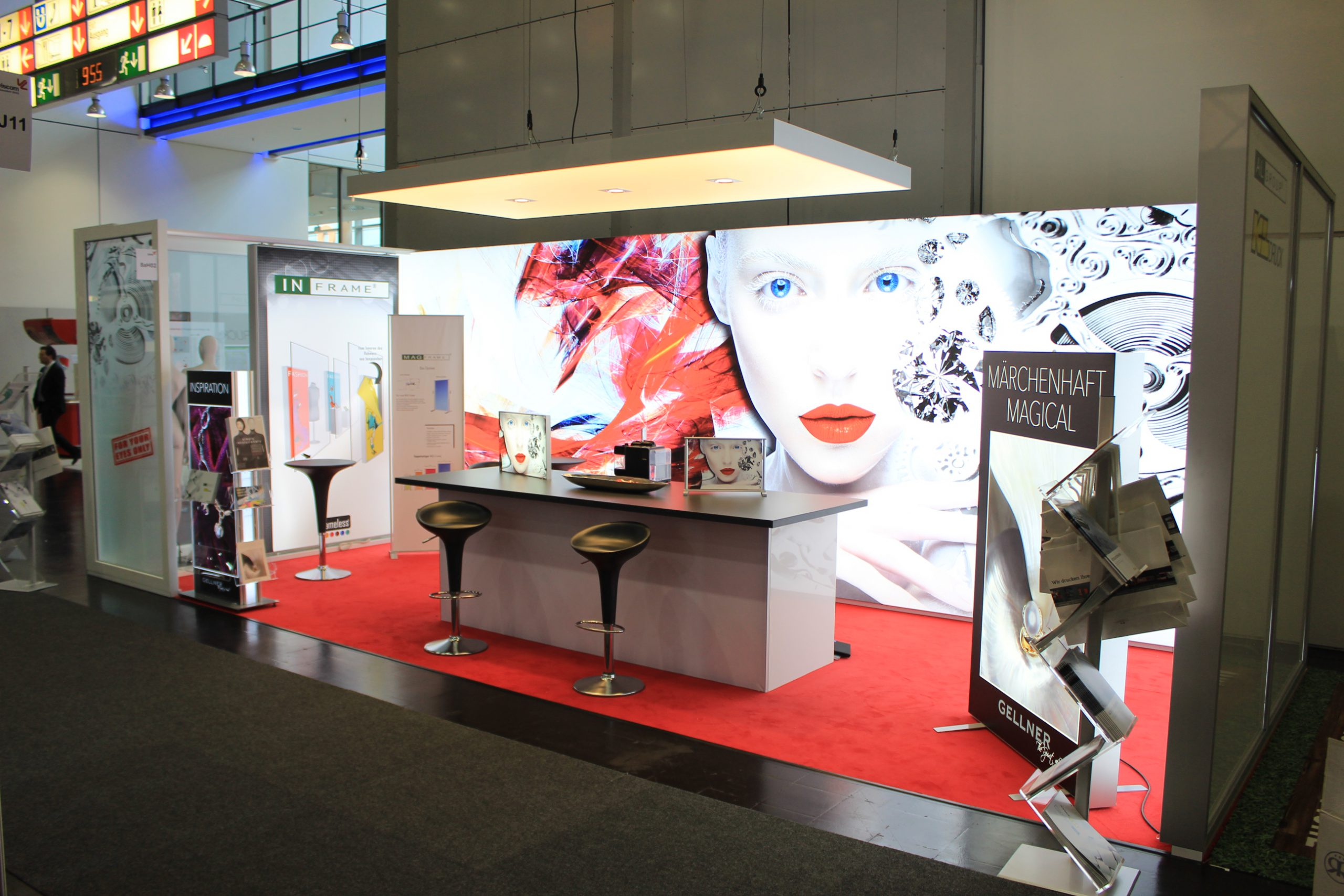 LED-Messestand in der Realität